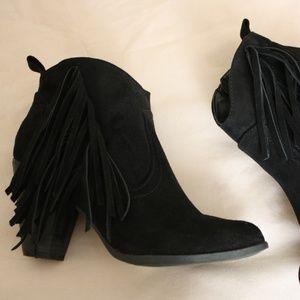 booties, black booties, ankle boots, shoe, heels